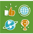 set bright icons vector image vector image