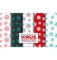 set colorful seamless art virus patterns vector image vector image