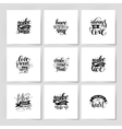 set handwritten lettering positive quote about vector image vector image