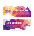 set of colorful faceted gift vouchers vector image vector image