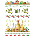 Set of Food borders vector image vector image