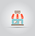 shop isolated colored icon vector image vector image