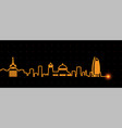 sofia light streak skyline vector image vector image