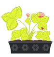 Strawberry in Flower Pot vector image vector image