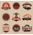 Taxi labels template Taxi service vector image
