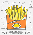 thin line icon fries in box For web design and vector image vector image