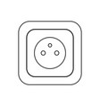 type e socket ac power socket icon france country vector image vector image