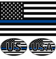 USA flag blue stripe vector image vector image