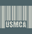 usmca - united states mexico canada agreement vector image vector image