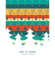 vibrant ikat stripes Christmas tree vector image vector image