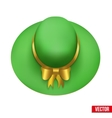 Vintage Green Fashion Hat vector image
