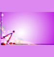 violet merry christmas modern background with vector image vector image