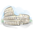 watercolor colosseum vector image
