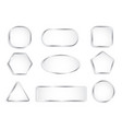 white glass buttons with chrome frame vector image vector image