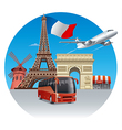 travel and tour in france vector image
