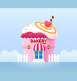 bakery shop building front vector image