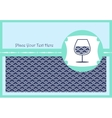 Card with a glass of wine vector image
