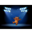 A bear with spotlights vector image vector image