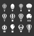 air ballon icon set grey