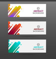 banner with abstract colorful shapes vector image vector image