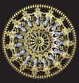 baroque floral round mandala pattern greek circle vector image vector image