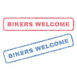 bikers welcome textile stamps vector image vector image