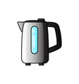 boiling water in electric kettle hot vector image