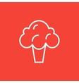 Broccoli line icon vector image vector image