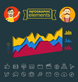 Business infographic elements clip-art vector image vector image