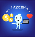 businessman working with passion vector image vector image