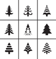 Christmas fir tree icons set vector image vector image