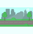 city park and trees flat style on vector image