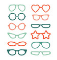 colorful glasses isolated on white vector image