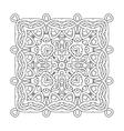 coloring book ornament mandala vector image vector image