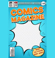 comic book cover retro cartoon comics magazine vector image