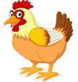 cute hen cartoon posing vector image vector image