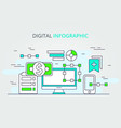digital data infographic design vector image vector image