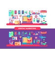 digital marketing design flat vector image vector image