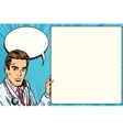 Doctor announcement poster medicine health vector image vector image
