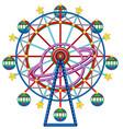 Ferris wheel with yellow stars