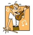 Fiddler vector image vector image