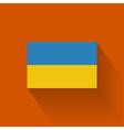 Flat flag of Ukraine vector image