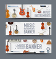 flat music instruments banners concept vector image vector image