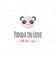 funny cartoon panda head logo Flat vector image