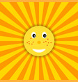 funny sun icon for kids vector image