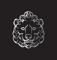 gothic lion head vector image vector image
