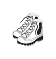 hand drawn mountain boots vector image vector image