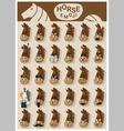 Horse emoji icons vector image vector image