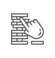 jenga board games line icon vector image