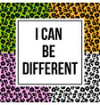 leopard skin with trendy phrase for print vector image vector image